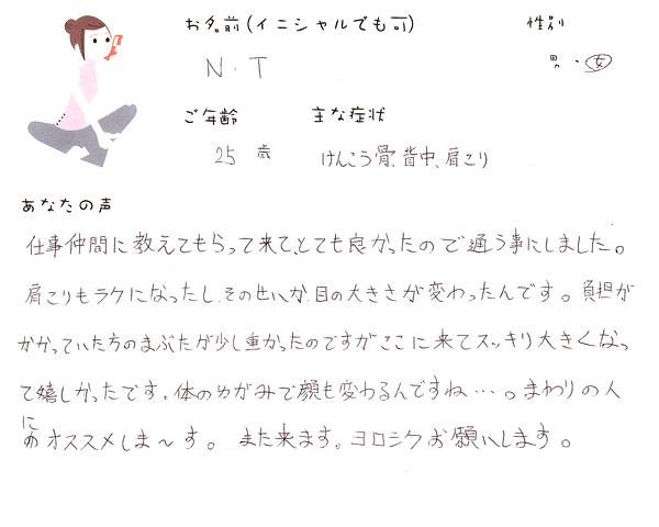 N.Tさん 25歳 女性