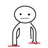 ③左右の手の位置がどちらかが下がっている。