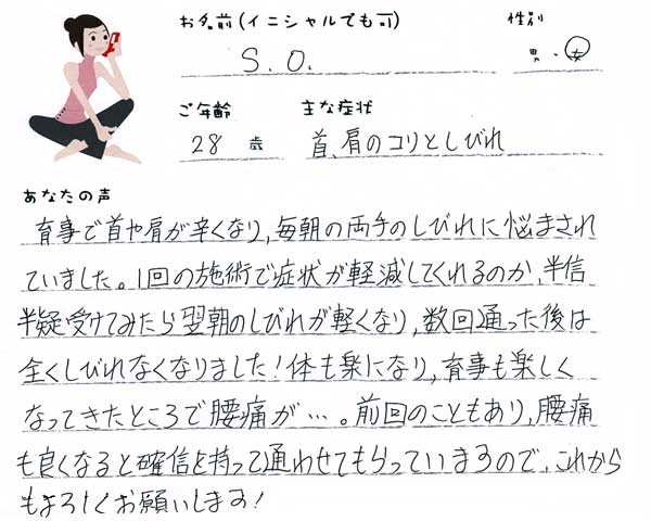 S.Oさん 28歳 女性