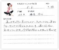 K.Kさん 69歳 女性