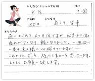 K.Nさん 68歳 女性